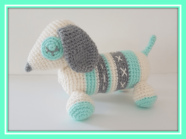 Dachshund Boni Pattern Amigurumi PDF German - Dutch - English | 462x620